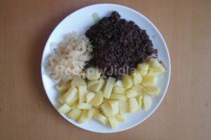Prejt s bramborem a zelím
