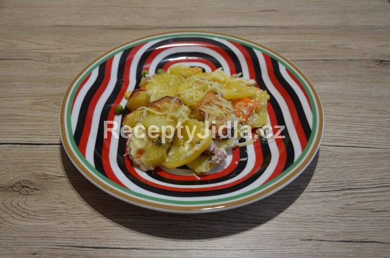 Francouzské brambory se zeleninou