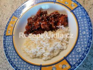 Kuře na pomerančích s rýží