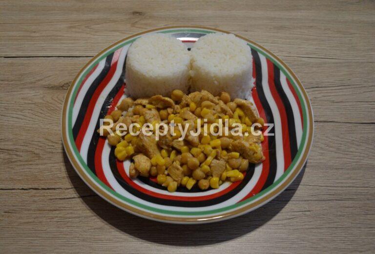 Kuřecí nudličky ala gyros s rýží