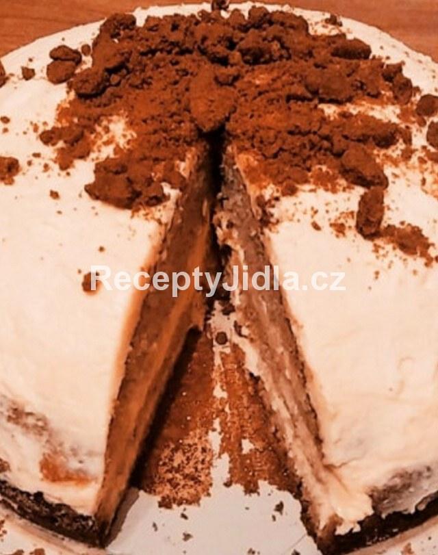 Vanilkový dort z lotus sušenek