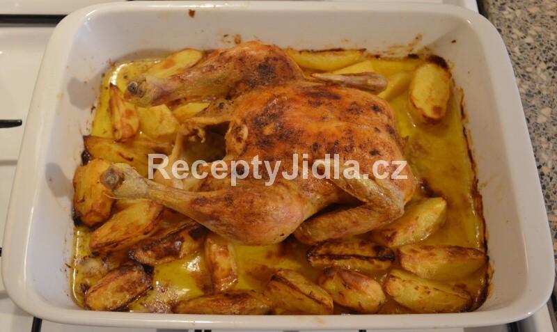 Pečené kuře na másle s bramborem