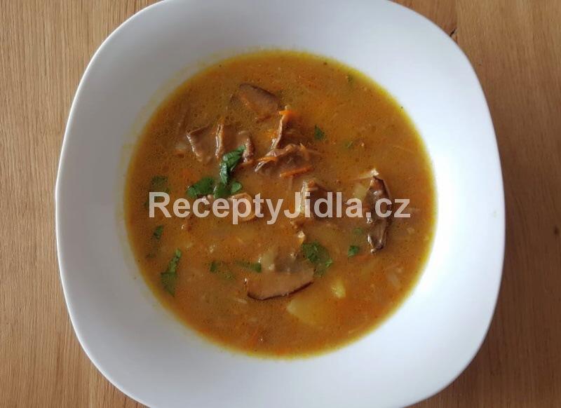 Houbová polévka ze sušených hub s bramborem
