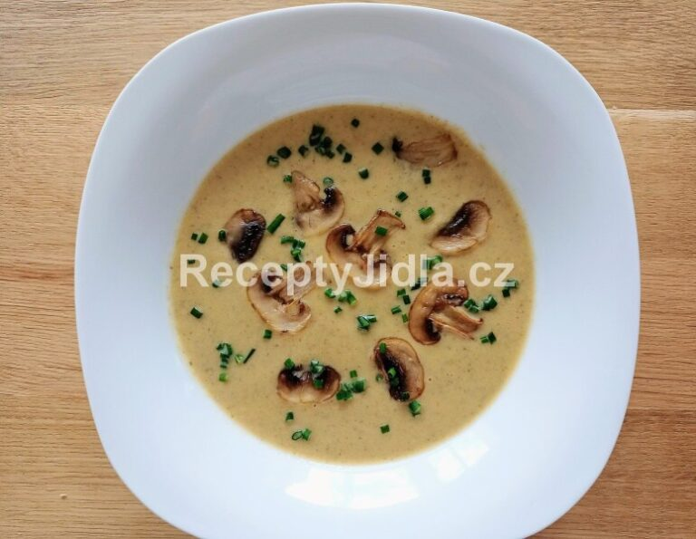 Žampionový krém - zdravá polévka se smetanou